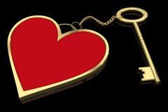 Anillo dominante del corazón aislado en negro Imagen de archivo libre de regalías