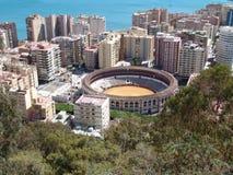 Anillo Málaga de la corrida Imagen de archivo libre de regalías