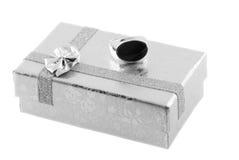 Anillo para el regalo Fotografía de archivo libre de regalías