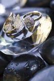 Anillo y diamante Foto de archivo libre de regalías