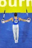 Anillos 001 del gimnasta Fotos de archivo