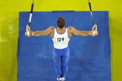 Anillos 003 del gimnasta Foto de archivo libre de regalías