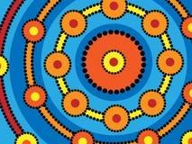Anillos aborígenes stock de ilustración