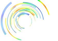 Anillos abstractos del color Ilustración del Vector