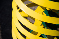 Anillos amarillos Imagen de archivo