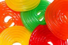 Anillos coloridos Foto de archivo libre de regalías