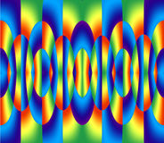 Anillos coloridos abstractos Fotografía de archivo