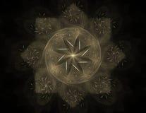 Anillos coloridos del fractal, ilustraciones digitales stock de ilustración