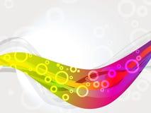 Anillos coloridos en fondo de white.abstract Imagen de archivo libre de regalías