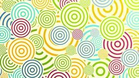 Anillos coloridos o animación video abstracta de los círculos