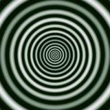 Anillos concéntricos regulares en monocromo Imagen abstracta de Digitaces con un diseño del círculo concéntrico en blanco y negro ilustración del vector