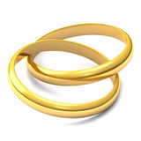 Anillos de bodas 3d Imagen de archivo libre de regalías