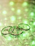 Anillos de bodas Fotos de archivo libres de regalías