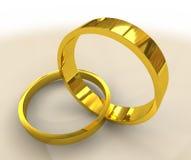 Anillos de bodas de oro ilustración del vector