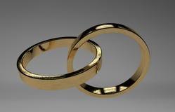 Anillos de bodas de oro Fotografía de archivo libre de regalías