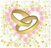 Anillos de bodas del oro Imágenes de archivo libres de regalías