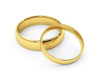 Anillos de bodas del oro Imagen de archivo libre de regalías