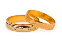 Anillos de bodas del oro Fotografía de archivo