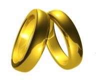 Anillos de bodas del oro, camino de recortes. stock de ilustración