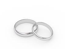 Anillos de bodas del platino Imagen de archivo libre de regalías