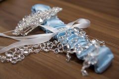 Anillos de bodas, anillos de bodas el día de boda Fotografía de archivo libre de regalías