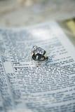 Anillos de bodas - enlace eterno Imágenes de archivo libres de regalías