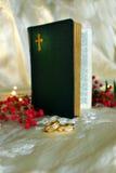 Anillos de bodas/invitación Imagen de archivo libre de regalías