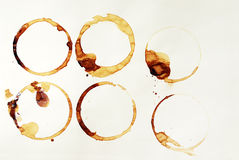 Anillos de café Fotos de archivo libres de regalías