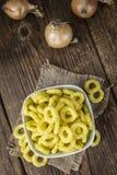 Anillos de cebolla (bocado) Imagen de archivo libre de regalías