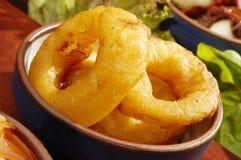 Anillos de cebolla fritos especialidad mexicana Imagen de archivo libre de regalías