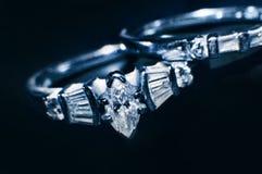 Anillos de diamante Imagen de archivo