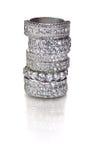 Anillos de diamante Fotografía de archivo