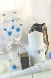 Anillos de Edding y accesorios de la boda Imagenes de archivo