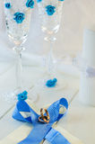 Anillos de Edding y accesorios de la boda Foto de archivo