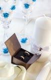 Anillos de Edding y accesorios de la boda Foto de archivo libre de regalías