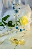 Anillos de Edding y accesorios de la boda Imagen de archivo libre de regalías