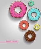 Anillos de espuma fijados anillos de espuma con la sombra Esmalte coloreado stock de ilustración