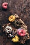 Anillos de espuma hechos en casa dulces imagen de archivo libre de regalías