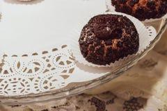 Anillos de espuma y chocolate fotografía de archivo libre de regalías