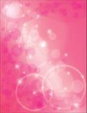 Anillos de la eternidad con el fondo rosado de los corazones stock de ilustración