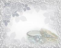 Anillos de la invitación de la boda Imágenes de archivo libres de regalías