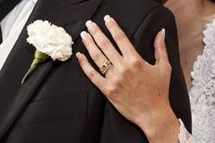 Anillos de la novia Imágenes de archivo libres de regalías