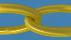 anillos de oro 3d Foto de archivo libre de regalías