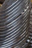 Anillos del acero inoxidable Imagen de archivo libre de regalías