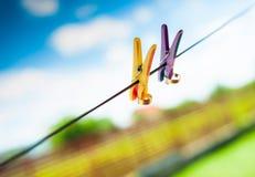 Anillos en cuerda Foto de archivo libre de regalías