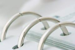 Anillos espirales del cuaderno Imágenes de archivo libres de regalías