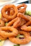 Anillos fritos del calamari Imagenes de archivo