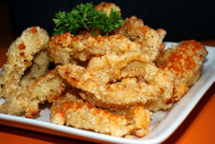 Anillos fritos taiwaneses del Calamari Foto de archivo
