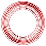 Anillos ideales del círculo ilustración del vector