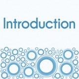 Anillos inferiores azules de la introducción stock de ilustración